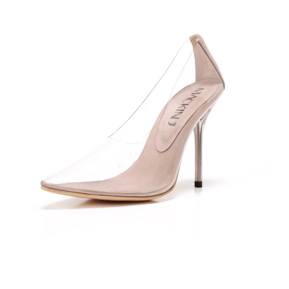 2707d964002 Clear nude pumps  various sizes